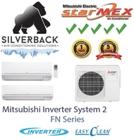 Mitsubishi Starmex (2-5 Ticks) System 2 Aircon FN Series - Installation included