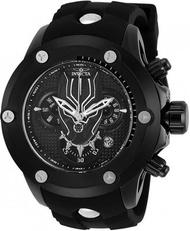 《大男人》MARVEL漫威限量款Invicta #8608黑帶黑豹瑞士大錶徑50MM個性潛水錶,非常稀有(本賣場全現貨)