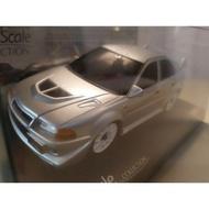絕版 KYOSHO MINI-Z MITSUBISHI LANCER EVO 6  銀色素色版