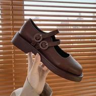 POLO CLUB รุ่น P1810 รองเท้าคัชชูหนังแท้ รองเท้าโลฟเฟอร์ ส้นเตี้ย สีดำ
