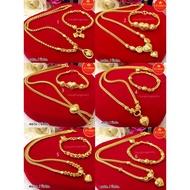 ชุดเซ็ตสร้อยคอระย้า 2บาท ทองคุณภาพดี ทองชุบ ทองปลอม ทองไมครอน เศษทอง ทองหุ้ม
