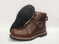 大自在 ORIS 戰鬥靴 皮鞋 休閒皮鞋 真皮皮鞋 尺寸41~44 抗滑 耐磨 棕 S8926A08
