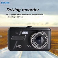 ESCAM A11 4-inch Touch Screen Driving Recorder Dual Lens Car DVR Support Motion Detection,vlogging camera,camera for vlogging,action camera
