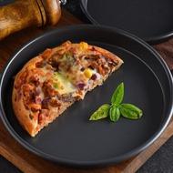 11.11超值折扣 披薩盤 6/8/9/10/12寸批薩深烤盤 圓形家用pizza盤烘焙模具烤箱用