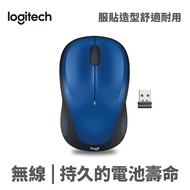 Logitech 羅技 M235 Unifying 無線 光學 辦公 滑鼠 10m 1000dpi 3鍵(含滾輪) 藍