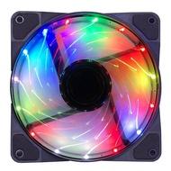 熱銷推薦~臺式機電腦機箱風扇12cm主機散熱風扇8cm發光LED變色彩燈12V靜音