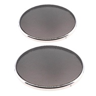 Dovewill 2Pcs Mesh Car Speaker Subwoofer Grille Grill with 1 Ring 6.5inch+5inch