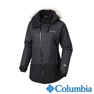 Columbia哥倫比亞 女款-Omni-HEAT鋁點保暖防水連帽外套-深灰