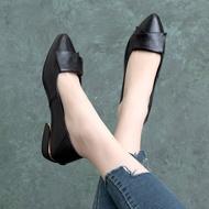 รองเท้าส้นแบน รองเท้าทำงานผู้หญิง หัวแหลม ส้น 3cm รองเท้าคัชชู เบอร์ 35-41