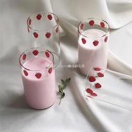 漫畫版NANA草莓玻璃杯 高硼硅耐熱玻璃 可愛草莓牛奶杯 漫畫周邊