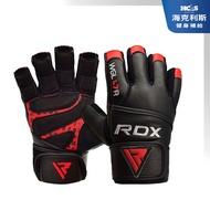 【英國 RDX】🔥 王者之冠 專業 牛皮 舉重 健身 手套 CROWN L7 / 經典黑紅