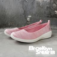 SKECHERS ARYA DIFFERENT EDGE 粉 條紋 白底 休閒鞋 女 (布魯克林) 23752PNK
