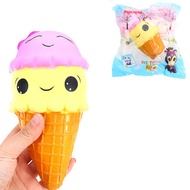 Smile Ice Cream Magic Squishy 18cm Slow Rising With Packaging Collection Gift Soft Toy