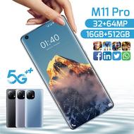 7.3 Inch Orignal Smartphone 2021 Newest Galaxy M11 Pro 6800Mah 16+512GB Fual Screen Dual SIM 4G 5G Android Mobile Phone