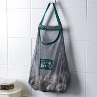 廚房果蔬收納網袋,壁掛式家用儲物袋,便攜手提鏤空透氣,大姜蒜頭掛袋