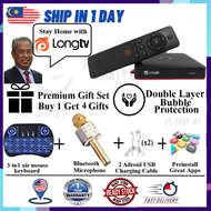 【Ready Stock & Free Gift】 NEW LONGTV LONG TV TVbox Android Box (FREE Preinstall 10K IPTV Channel/Movies LemLive Lemmovies)2.4Ghz&5G WIFI Bluetooth 4K Androidbox Free for life No Subscription Fee