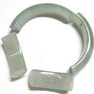 斷玉手鐲修復修配件 斷裂玉手鐲修復 翡翠手鐲裂痕修補配件銀包邊