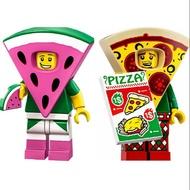 樂高 LEGO 71025 人偶包 10號 披薩男孩 71023 西瓜裝男孩8號 玩電影2人偶包 合售