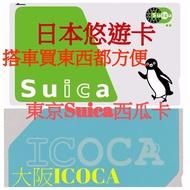 日本交通卡 東京西瓜卡Suica/大阪ICOCA/北海道Kitaca 日本悠遊卡