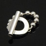 GUCCI珠鍊造型戒指(戒圍14號)【silver925】