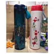 現貨  新款 聖誕 美人魚 星巴克保溫杯 保溫瓶 手提保溫杯