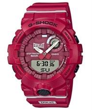 G-SHOCK G打擊G打擊G-SQUAD jisukuwaddo EVERLAST限定型號卡西歐CASIO sumatofonrinkuanadeji手錶紅GBA-800EL-4AJR G-SUPPLY