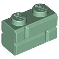 土城 公主樂糕殿 LEGO 樂高 10259 冬季復古車站 磚牆 溝槽 1X2 沙綠色 98283 (T-078)