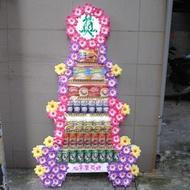 【CN-719】!!喪禮罐頭塔!! 罐頭塔、弔唁罐頭塔、喪禮罐頭塔罐頭塔、喪禮罐頭塔-七層綜合食品.飲料