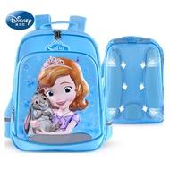 Disney 迪士尼 小公主蘇菲亞3D防潑水立體護脊書包 3色可選天藍色