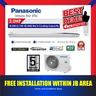 Panasonic X-Premium Inverter R32 Aero Series Aircond / Air Conditioner  CS-XU10VKH (1.0HP) / CS-XU13VKH (1.5HP) / CS-XU18VKH (2.0HP) / CS-XU24VKH (2.5HP)