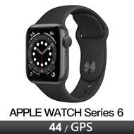 Apple Watch S6 GPS 44/灰鋁/黑運動錶帶 M00H3TA/A★血氧偵測★