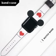 สายหนังสำหรับApple Watch Se Band 44มม.40มม.สายนาฬิกาApple Watch 42มม.38มม.+ Watchbandเข็มขัดสร้อยข้อมือApple Watch Series 6 5 4 3
