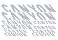 High Quality Vinyl bicycle Die-cut canyon Stickers bike Reflective frame decals For Mtb