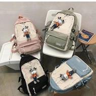 กระเป๋าถือเดินทาง กระเป๋าสะพายหลังสไตล์เกาหลี ขนาด15-16นิ้ว พร้อมส่งค่ะ(ตุ๊าตาวัว) กระเป๋าลาก