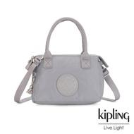 【KIPLING】知性質感灰藍小巧手提肩背包-LERIA