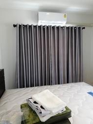 ผ้าม่านสำเร็จรูปกันแสงกันUV แบบตาไก่เจาะห่วง หน้าต่าง ประตู สีครีมน้ำตาลเทาขาวเทาดำทอง  ขนาด 130x150- 130x225- 220x150- 220x225 - 280x150 - 280x250
