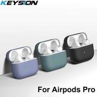 Keysion กรณีซิลิโคนเหลวนุ่มสำหรับ airpods Pro ไร้สายบลูทูธปกคลุมสำหรับ Apple airpods Pro หูฟังกรณีสำหรับ airpods Pro