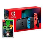 【預購】Nintendo Switch 主機 電光紅藍 (電池加強版)+路易吉洋樓3中文版