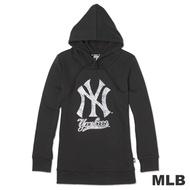 MLB-紐約洋基隊蛇紋造型印花連帽T-黑(女)