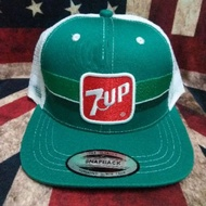 Cap 7up vintage trucker snapback tag made in usa
