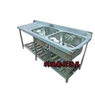 《利通餐飲設備》2口水槽+平台 180 × 60 × 80 深30 2水槽 二口水槽 雙口水槽