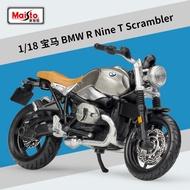 Meritor Figure 1:18 BMW R Nine T Scrambler รถจักรยานยนต์รุ่นแบบจำลองรถจากโลหะอัลลอยด์รุ่น