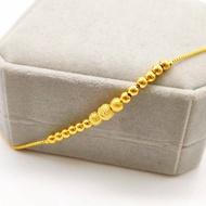 腳鍊 ❦正品純金腳鏈9999足金黃金色女款鈴鐺網紅轉運珠腳鏈女飾品送女友♥