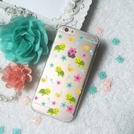 小龜海星雞泡魚透明手機殼軟殼iphone 8 XS 7 7+ 6 Samsung S9 S8