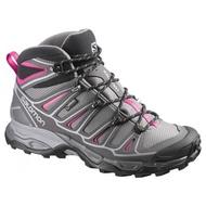 Salomon X Ultra Mid 2 GTX 中筒防水健行鞋 女 透氣健行 登山鞋 粉紅/灰 L37147700