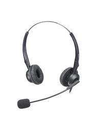 客服耳機 杭普 Q28電話耳機客服耳麥 話務員頭戴式雙耳聽筒線控 調音靜音