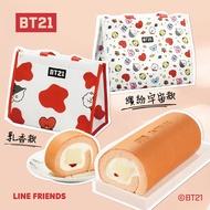 超萌宇宙明星BT21限定推出❤【亞尼克】保冷袋明星組-草莓多多生乳捲+保冷袋❤乳香款 & 宇宙繽紛款⚡酸酸甜甜 少女心 🍓🏆