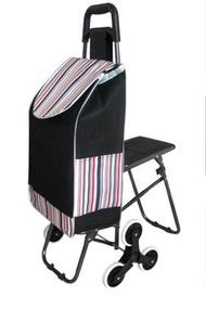 菜籃車 帶座椅爬樓購物車買菜車小拉車老年折疊 宜室家居LX