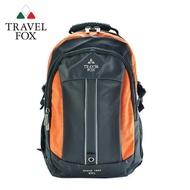 【TRAVEL FOX 旅狐】雙色尼龍輕量休閒後背包(TB586-16 橘色)