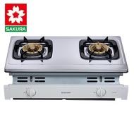 櫻花牌 G6150AS 分離式爐頭不鏽鋼崁入式雙口瓦斯爐-桶裝瓦斯